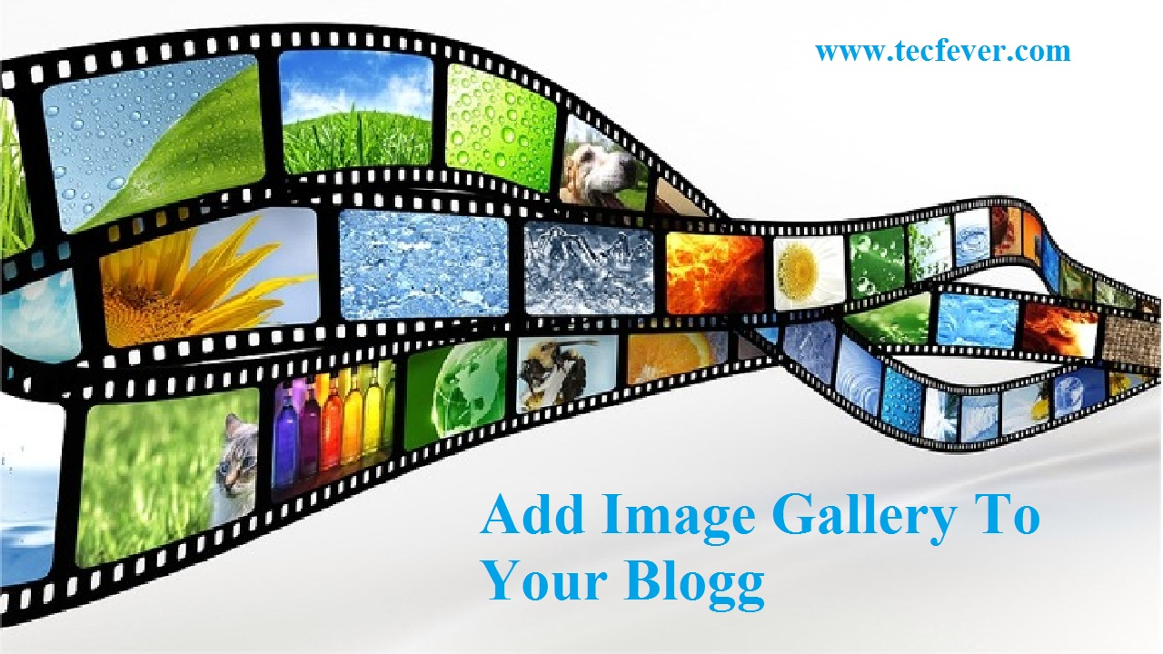 Add Image Gallery To Your Blog It is easy